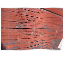 Red Painted Wood Poster