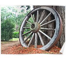 carriage wooden wheel Poster