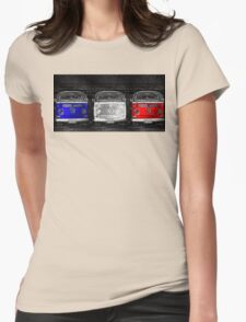 VW van French flag Womens Fitted T-Shirt