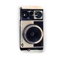 Retro - Vintage Pastel Camera on Beige Pattern Map Background Samsung Galaxy Case/Skin