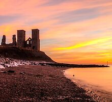 Reculver Sunset by Ian Hufton