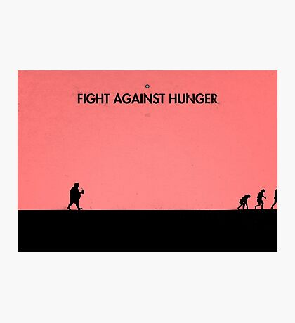 99 Steps of Progress - Fight against hunger Photographic Print