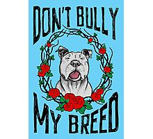 DON'T BULLY MY BREED V3 Photographic Print