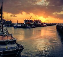 Whitstable Harbour at Sunset by Ian Hufton