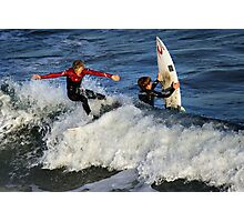 Surfing at Jan Juc Photographic Print