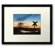 Twilight Crossing Framed Print
