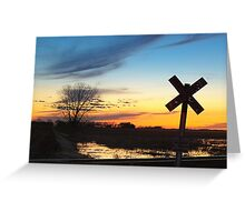 Twilight Crossing Greeting Card