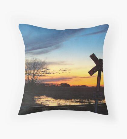 Twilight Crossing Throw Pillow