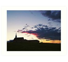 Prairie Parish Art Print