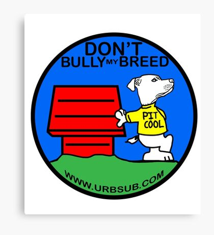 PIT COOL PIT BULL LOGO BY URB SUB 2 Canvas Print