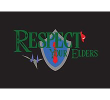 Respect your elders Photographic Print