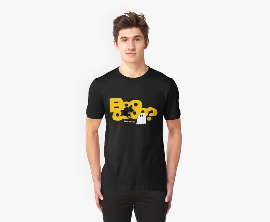 Black Pug BARKING Boo! by boodapug