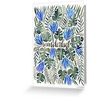 Tropical Wanderlust – Periwinkle Greeting Card