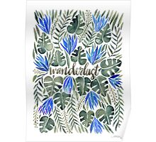 Tropical Wanderlust – Periwinkle Poster