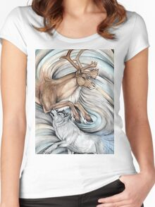 The Hunter and Hunted Women's Fitted Scoop T-Shirt