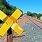 Train Tracks & Signs by Russell Voigt