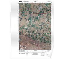 USGS Topo Map Washington State WA Kittitas 20110502 TM Poster