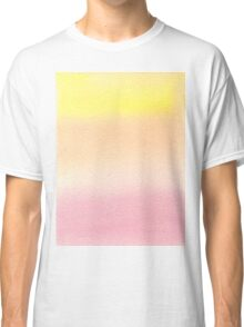 Hand-Painted Watercolor Background Pink Yellow Gradation Classic T-Shirt