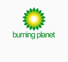 BP - Burning Planet (white) Womens Fitted T-Shirt