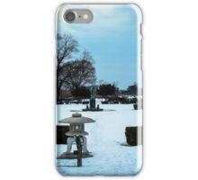 Belle Isle Garden During The Winter In Detroit iPhone Case/Skin