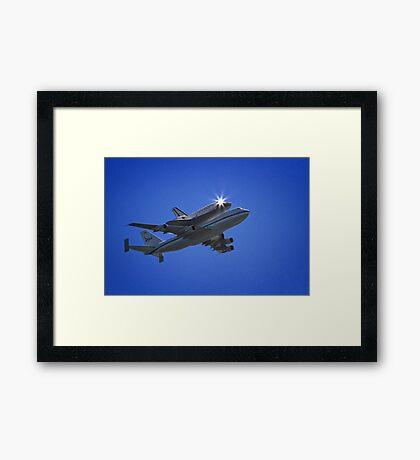 Endeavor Fly Over - Long Beach, California Framed Print