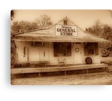 Mauzy General Store Canvas Print