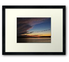 Ominous Skies Framed Print