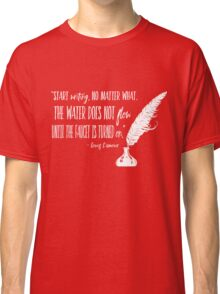 Louis L'Amour Quote 2 Classic T-Shirt