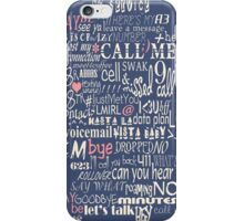 Call Me...Maybe with Pink Accents iPhone Case/Skin
