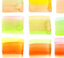Hand-Painted Watercolor Colorful Pastel Rectangle Brush Strokes Sticker