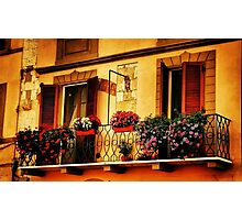 A Balcony In Pisa Photographic Print