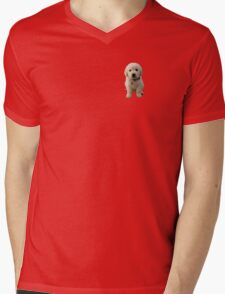 Puppy Mens V-Neck T-Shirt