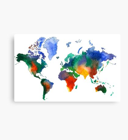 Oh!  What A Watercolor World Canvas Print