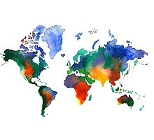 Oh!  What A Watercolor World Photographic Print