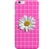 Daisy On Plaid- Pink iPhone Case/Skin