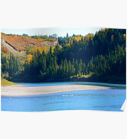 Autumn - North Saskatchewan River Poster