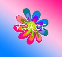 Peace Flower- Gradient Background by 2HivelysArt