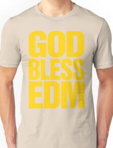 God Bless EDM (Electronic Dance Music) [mustard] Unisex T-Shirt