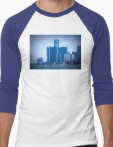 Renaissance Center In Downtown Detroit, Michigan Men's Baseball ¾ T-Shirt