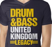 Drum & Bass United Kingdom Legacy  Mens V-Neck T-Shirt