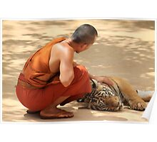 Monk with Tiger Poster