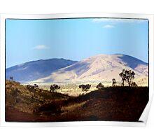 Ranges around Tom Price Western Australia Poster