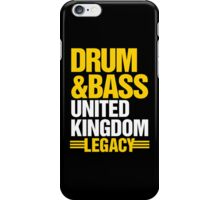 Drum & Bass United Kingdom Legacy  iPhone Case/Skin