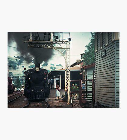 Excursion train at Wodonga Railway station 19810300 0037 Photographic Print