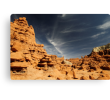 Downtown in Hoodoo City Canvas Print