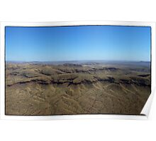 Ranges around Mt Newman Western Australia Poster
