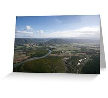 Aerial view of Daintree National Park, Queensland, Australia Greeting Card