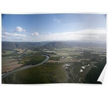Aerial view of Daintree National Park, Queensland, Australia Poster