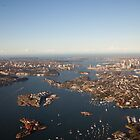 Aerial view of Sydney Harbour, Australia by Sharpeyeimages