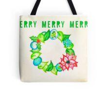 Merry wreath Tote Bag